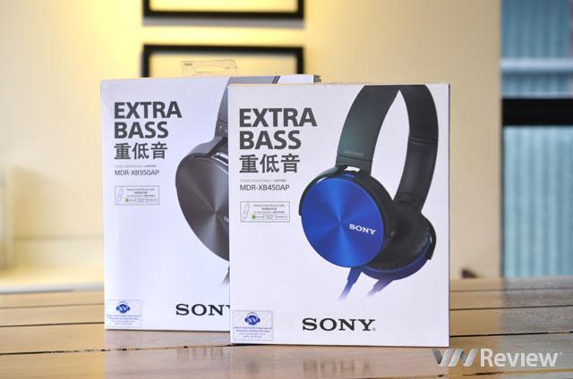 Đánh giá 2 tai nghe siêu trầm Sony MDR-XB450 và MDR-XB950