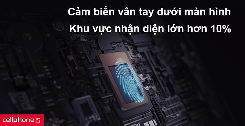 công nghệ cảm biến vân tay dưới màn hình mới mỏng hơn 88%