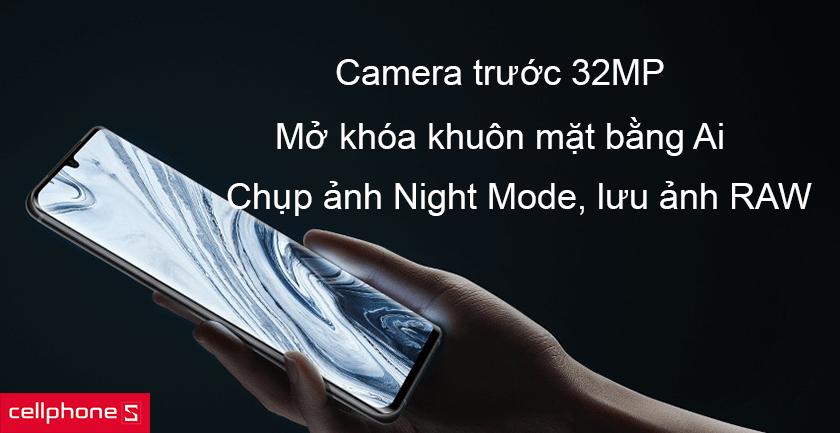 Camera trước của Xiaomi Mi Note 10 Pro có độ phân giải 32MP