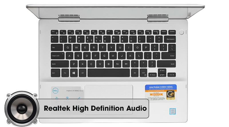 Laptop Dell Inspiron 5482 i7 mang đến âm thanh sôi nổi