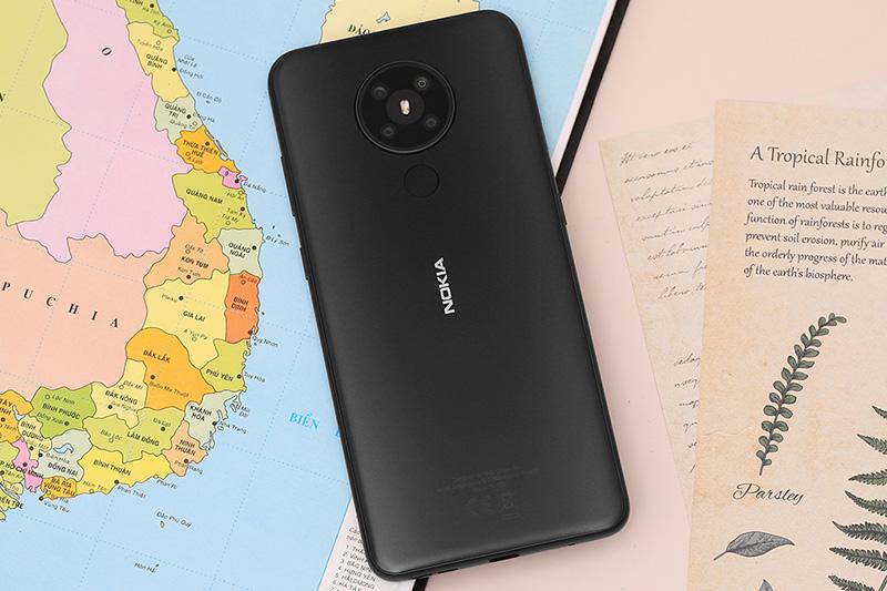 Điện thoại Nokia 5.3 thiết kế mặt lưng ấn tượng