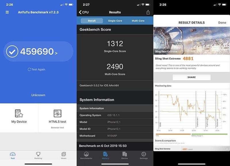 Điện thoại iPhone 11 256GB | Điểm hiệu năng Antutu Benchmark