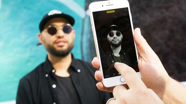 Giao diện chụp ảnh của điện thoại iPhone 8
