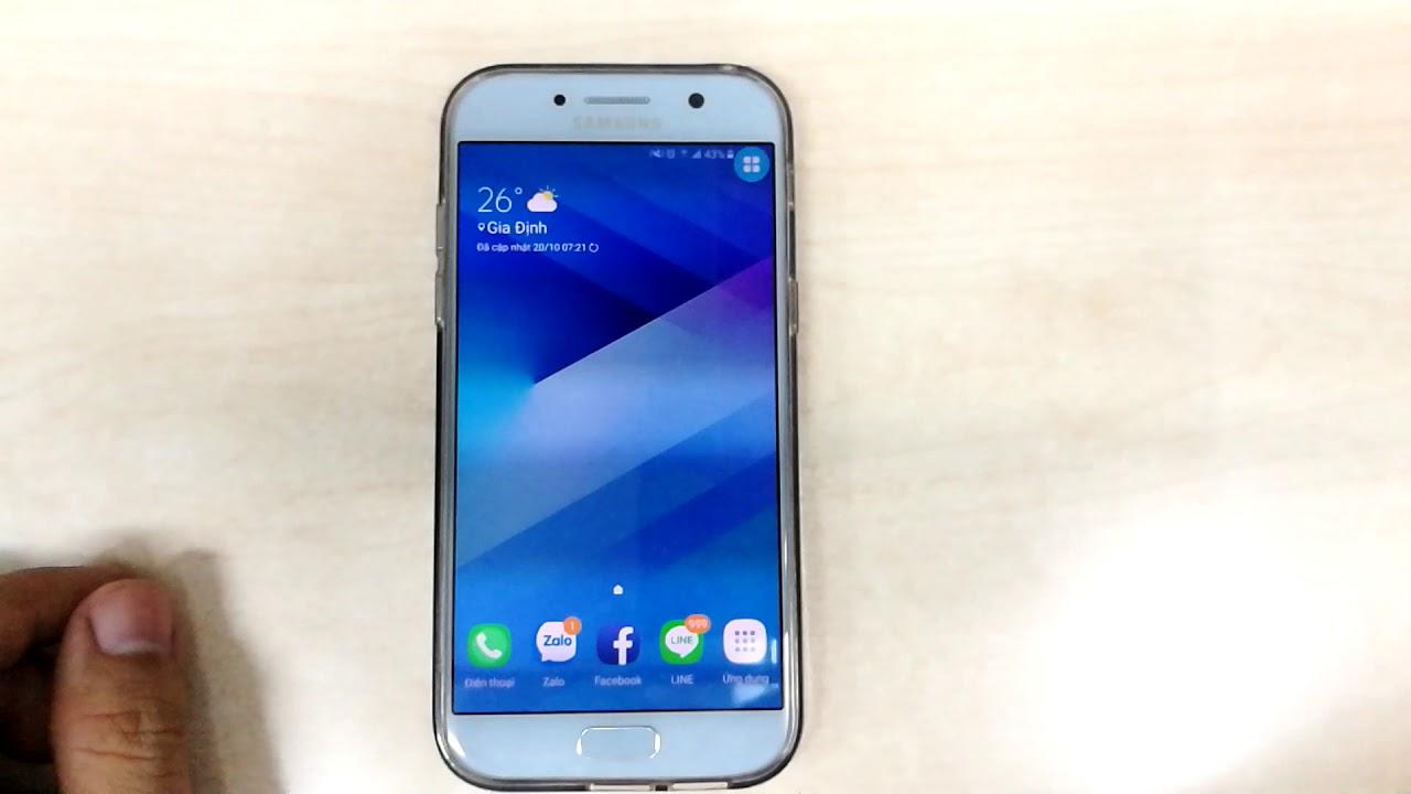 lớp phủ màn hình trên android (Samsung A5 2017). - YouTube