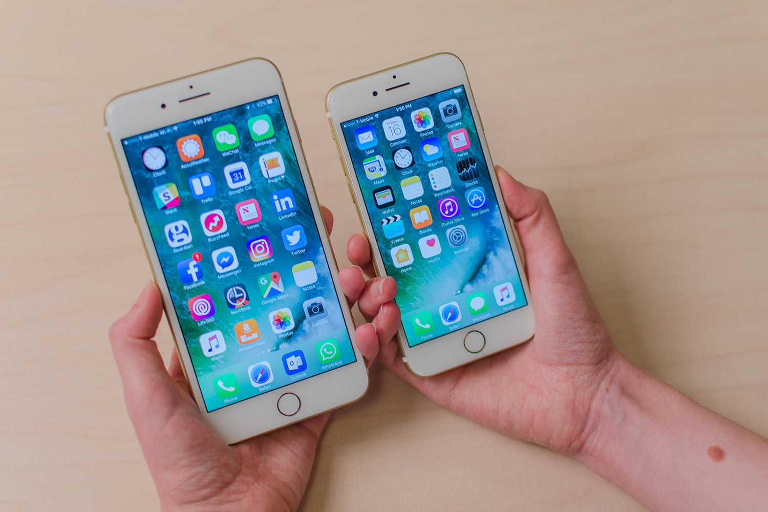 Apple iPhone 7 vs. iPhone 7 Plus | Smartphone Specs Comparison | Digital Trends