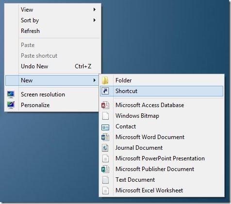 Tạo Shortcut tất cả chương trình trên màn hình Desktop Windows 8
