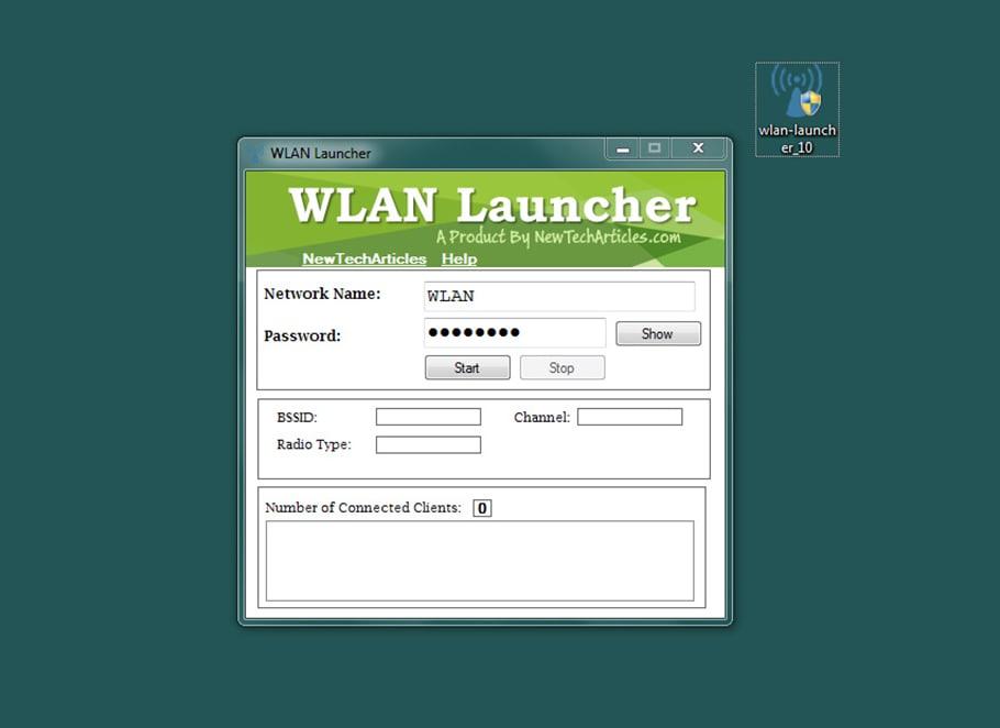 Download Wlan Launcher -Cách phát wifi từ laptopwin 10