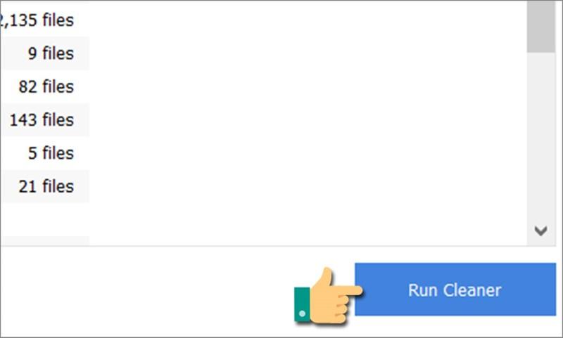 Bạn hãy nhấn vào Run Cleaner.
