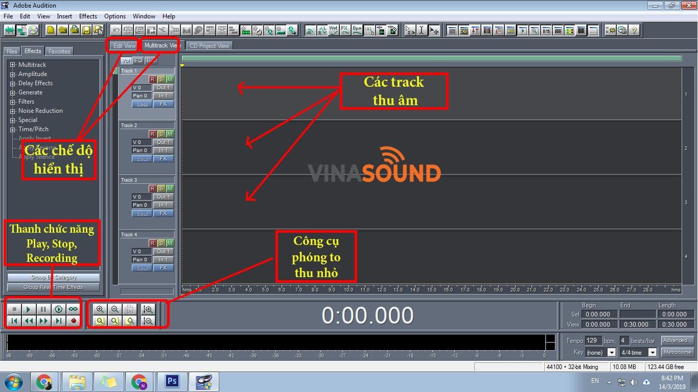 Hướng dẫn sử dụng Adobe Audition 1.5 để thu âm, mix nhạc