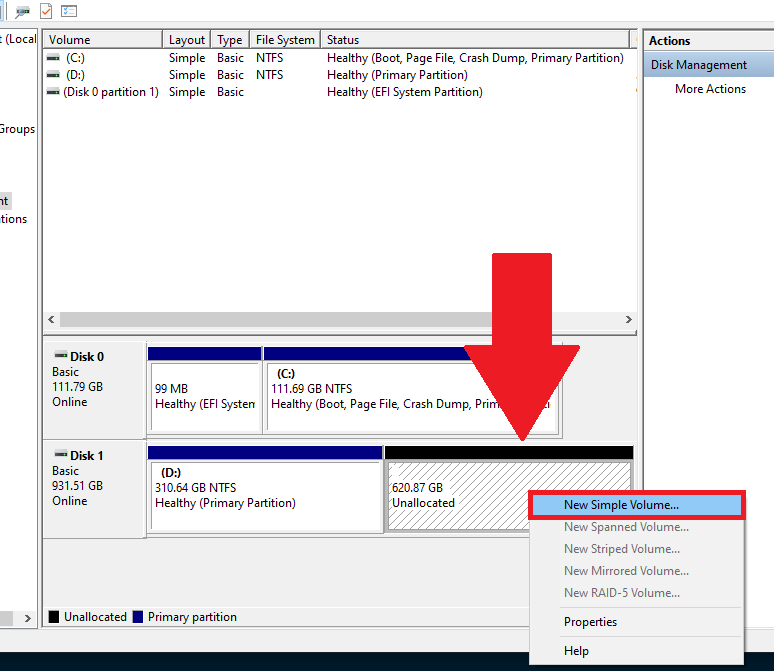 Hướng dẫn phân vùng ổ cứng bằng công cụ chính chủ của Windows 10 - GEARVN