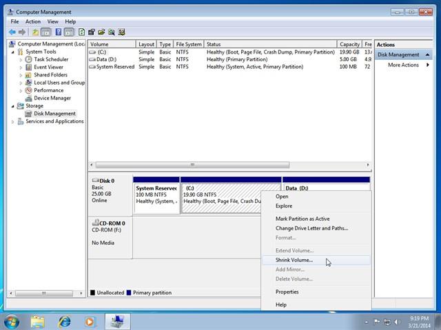 Hướng dẫn chia, phân vùng ổ cứng không mất dữ liệu trên Windows 7/8/10