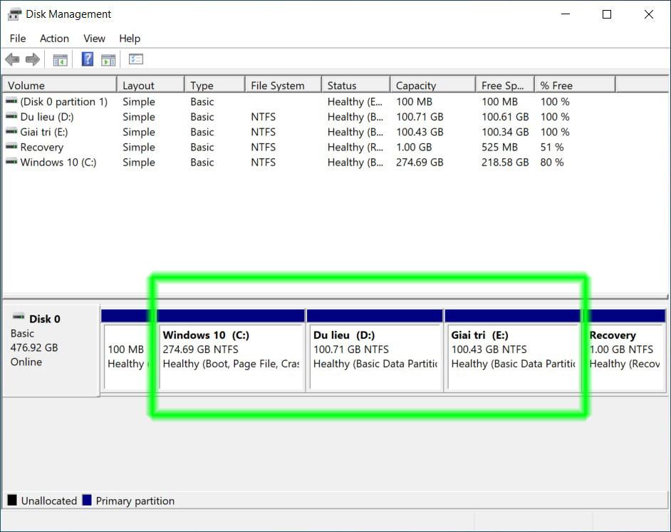 Cách gộp ổ đĩa trong Windows 10 03
