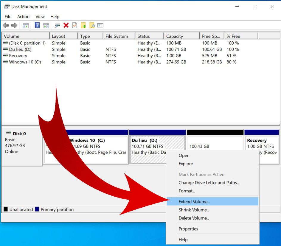 Cách gộp ổ đĩa trong Windows 10 06