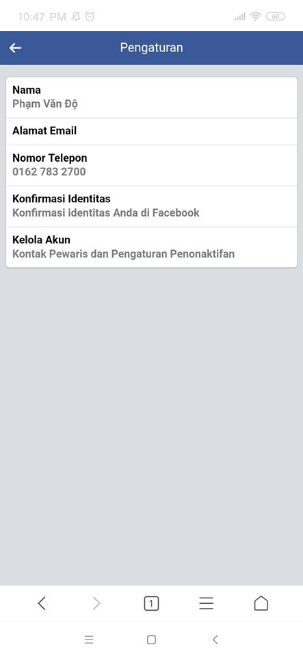 đổi tên facebook 1 chữ trên iphone