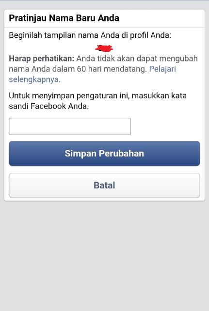 Hướng dẫn đổi tên facebook 1 chữ trên điện thoại di động