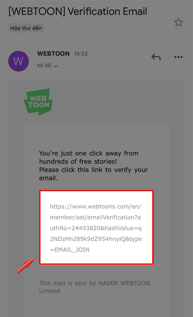 Vào Email mà bạn đăng ký, nhấp vào đường link trong nội dung mail.