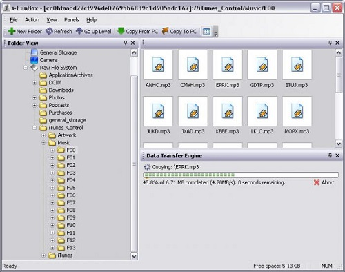 Và đây là điều mong chờ nhất. IFunbox có thể giúp bạn lưu trữ dữ liệu và tải nhạc, video cực kỳ thuận tiện...