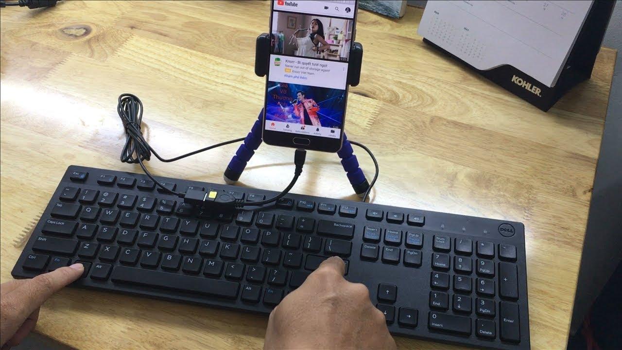 Cách dùng bàn phím điều khiển điện thoại Android - YouTube