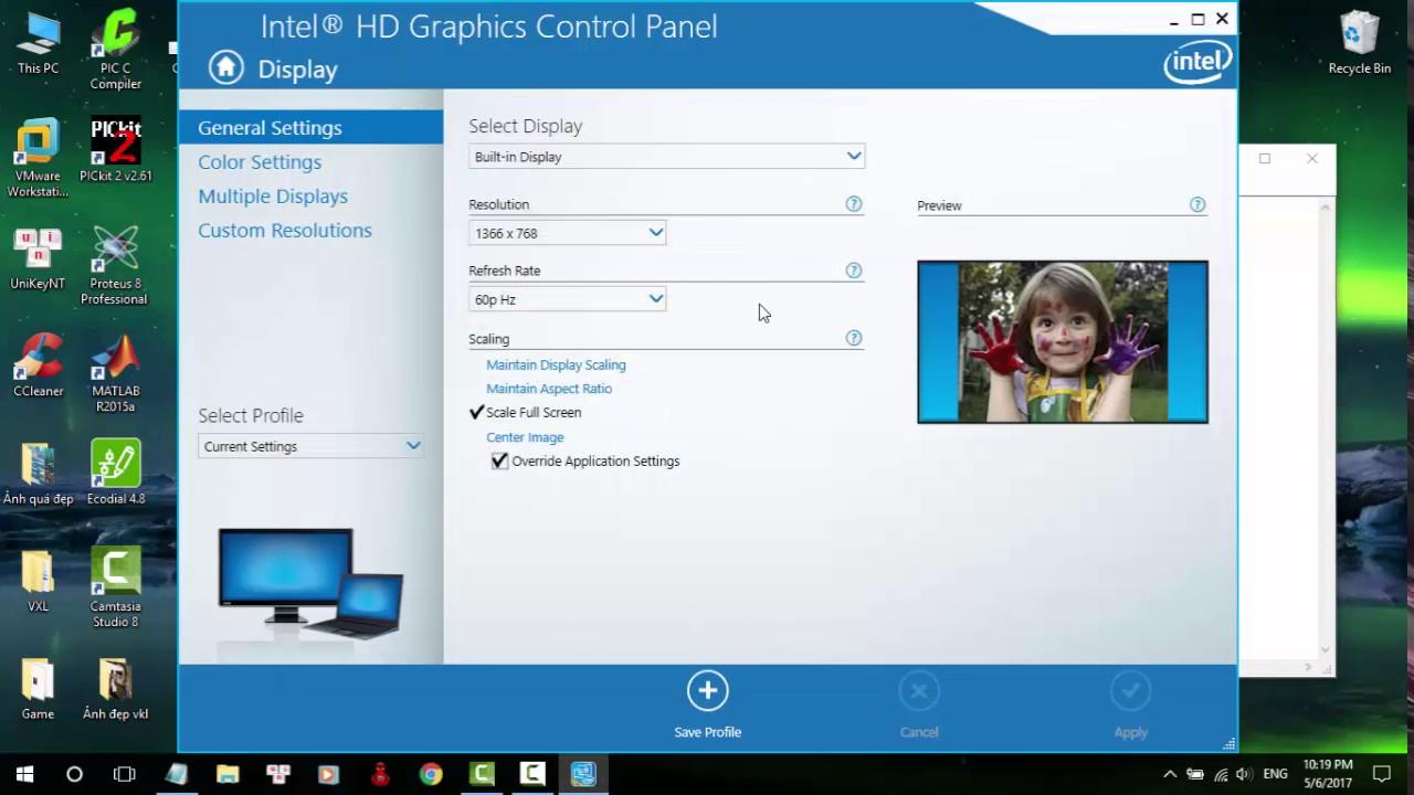 Chỉnh màu màn hình Windows 10