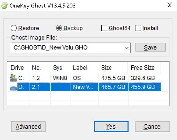 Chọn ổ đĩa mà sẽ chứafile ghost Windows 10