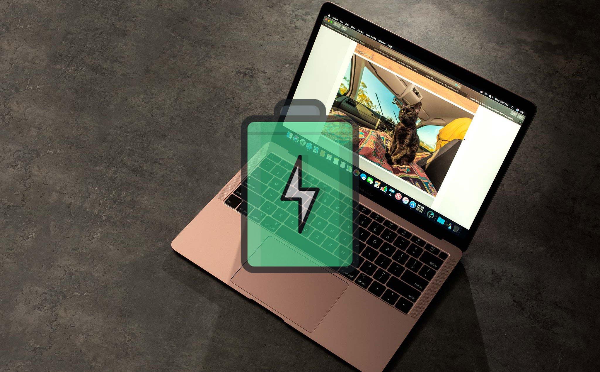 Dùng thử pin Macbook Air 2018: làm việc văn phòng 6 tiếng, Photoshop hơn 5 tiếng   Tinh tế