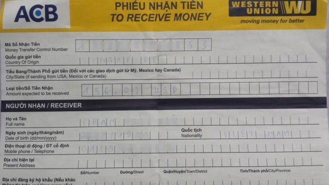 Cách gửi tiền qua Western Union - Tiến Việt Express