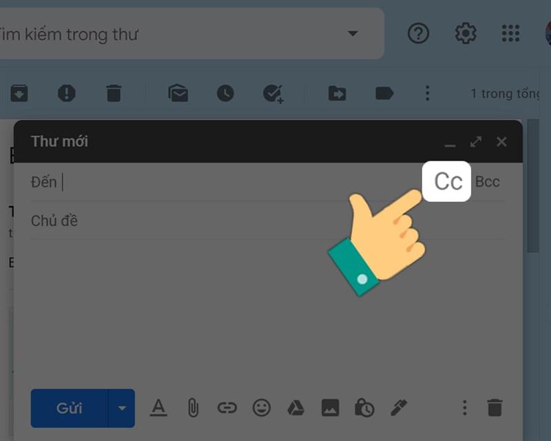 Gửi mail bằng Carbon Copy (Cc) trong Gmail
