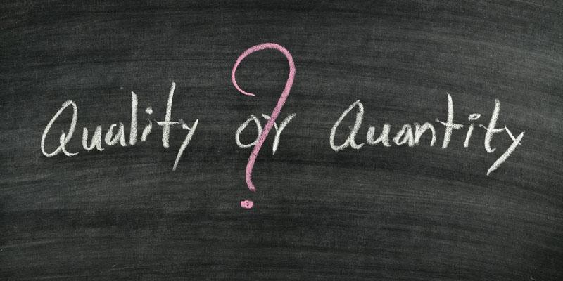 Cân đối giữa số lượng và chất lượng
