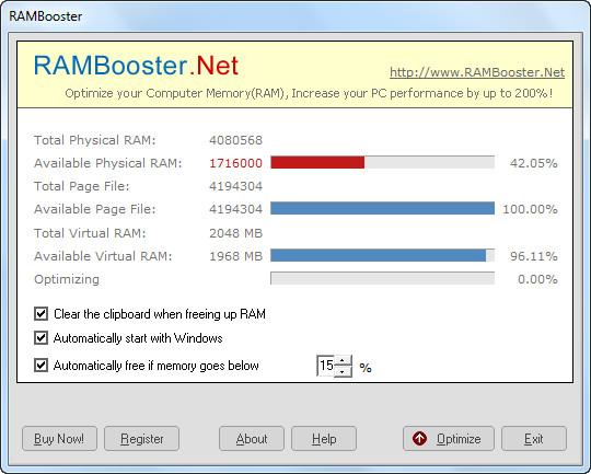Download RAMBooster.Net 3.1 - Quản lý bộ nhớ RAM máy tính -taimienphi.
