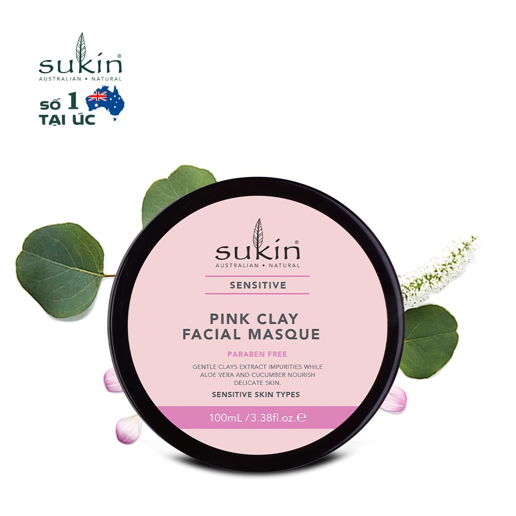 Mặt Nạ Đất Sét Hồng Cho Da Nhạy Cảm Sukin Sensitive Pink Clay Facial Masque 100ml - 1259101726