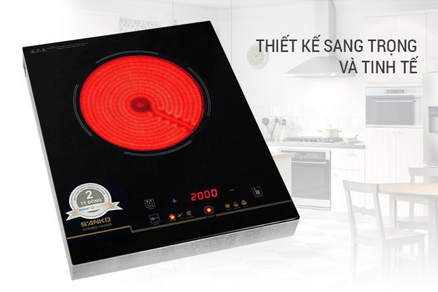 Review bếp hồng ngoại giá rẻ Sanko SI-718S hot nhất năm 2021