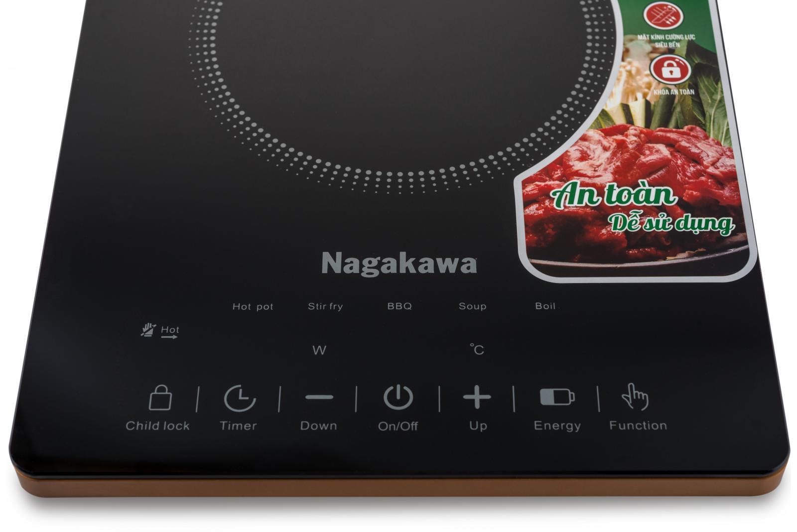 Bếp Hồng Ngoại Đơn Nagakawa NAG0707 (2000W) - Hàng Chính Hãng