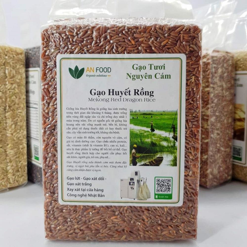 Thành phần dinh dưỡng trong gạo lứt Huyết Rồng rất cao