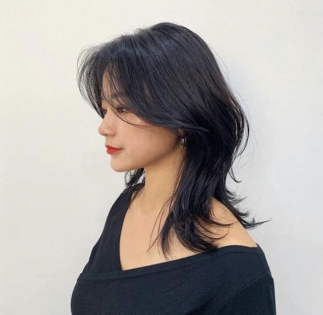 kiểu tóc mullet layer nữ để dài