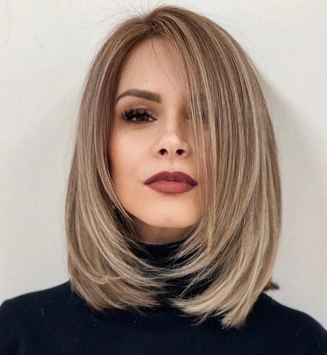 Chọn tóc mullet layer nữ mặt vuông
