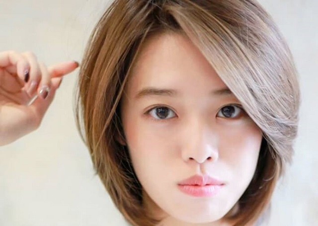 kiểu tóc mullet layer nữ uốn hình chữ C