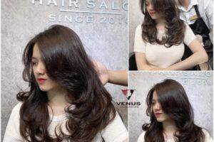 Tóc layer nữ sau khi được tạo mẫu tại Venus Hairsalon
