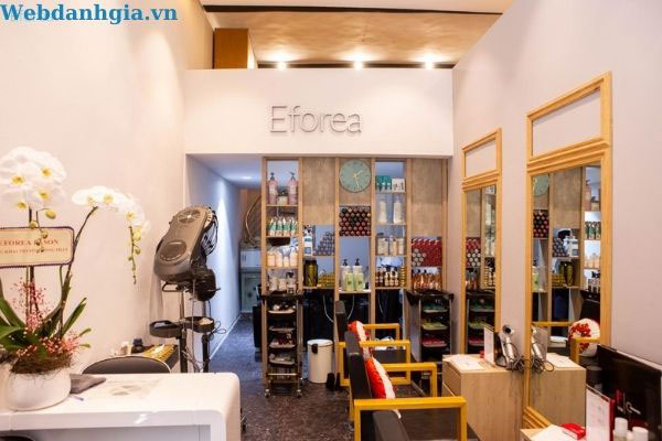 Không gian nhỏ ấm cúng của tiệm tóc Eforea Boutique Salon