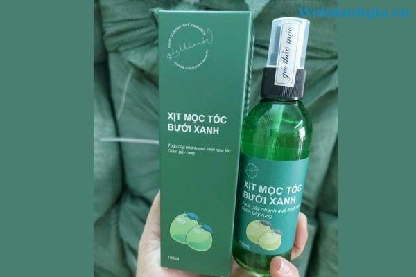 Xịt mọc tóc bưởi xanh - Tinh dầu dưỡng tóc