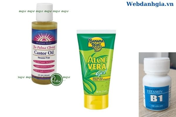 Dầu thầu – gel nha đam – vitamin b1