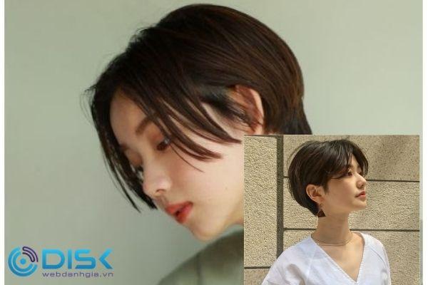 Một số kiểu cách điệu mới của tóc layer nữ Tomboy Hàn Quốc