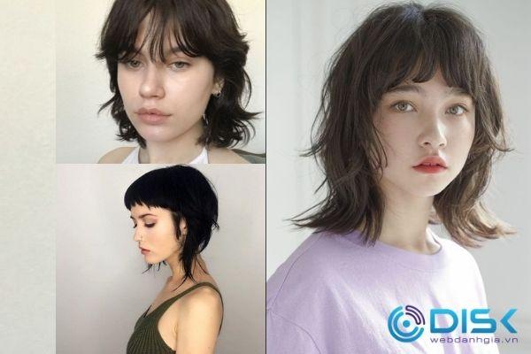 Tóc mullet cũ (trái) và tóc layer nữ mullet mới (phải)