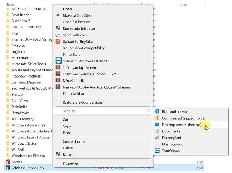 Shortcut cho Adobe Audition CS6